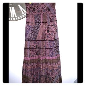 Zara purple flower maxi skirt size small
